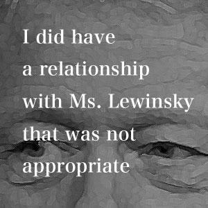 8月17日 クリントン大統領、不適切な関係を認める
