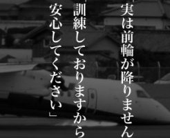 3月13日は何の日 全日空機胴体着陸事故