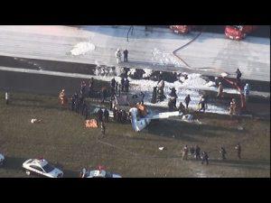 3月26日、八尾空港で小型機が墜落