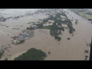 9月10日は何の日【茨城県常総市】鬼怒川の堤防が決壊、市街地が浸水