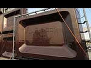 2月8日は何の日【明治製菓大阪工場】巨大板チョコ看板お披露目