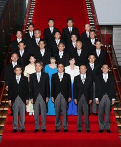 8月3日 安倍改造内閣発足