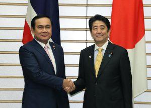 2月9日は何の日【安倍晋三首相】タイ暫定首相と会談