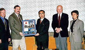 1月19日は何の日【向井千秋宇宙飛行士】小渕首相を表敬訪問