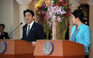 1月17日は何の日【安倍晋三首相】タイ・インラック首相と会談