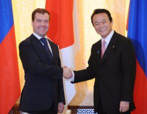 2月18日は何の日【麻生太郎首相】ロシア・メドベージェフ大統領と会談