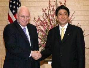 2月21日は何の日【安倍晋三首相】米・チェイニー副大統領と会談