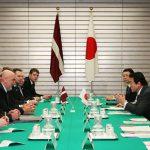 1月22日のできごと(何の日)【麻生太郎首相】ラトビア共和国首相と会談