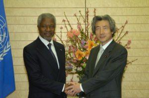 2月23日は何の日【小泉純一郎首相】国連・アナン事務総長と会談