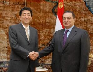 5月2日のできごと(何の日)【安倍晋三首相】エジプト・ムバラク大統領と会談