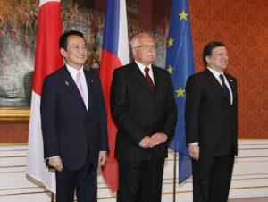 5月4日は何の日【麻生太郎首相】EU首脳と会談