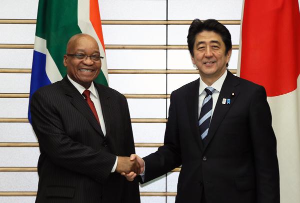 6月4日のできごと(何の日)【安倍晋三首相】南アフリカ共和国大統領と会談