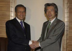 6月5日は何の日【小泉純一郎首相】マレーシア・マハティール首相と会談