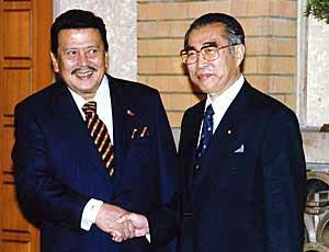 6月4日のできごと(何の日)【小渕恵三首相】フィリピン・エストラダ大統領と会談