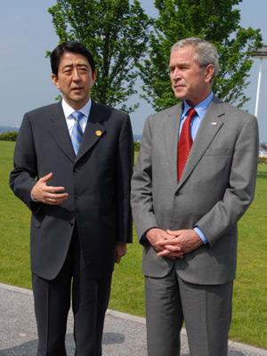 6月6日のできごと(何の日)【安倍晋三首相】米・ブッシュ大統領と会談