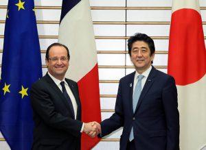 【安倍晋三首相】仏・オランド大統領と会談