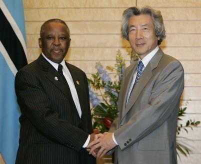 6月8日のできごと(何の日)【小泉純一郎首相】ボツワナ共和国大統領と会談