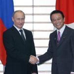 5月12日のできごと【麻生太郎首相】ロシア・プーチン首相と会談