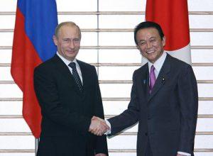 5月12日は何の日【麻生太郎首相】ロシア・プーチン首相と会談
