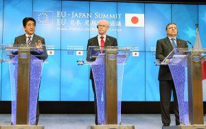 5月7日は何の日【安倍晋三首相】EU首脳と会談