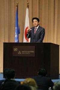 3月16日は何の日【安倍晋三首相】国連創設70周年記念シンポジウムでスピーチ