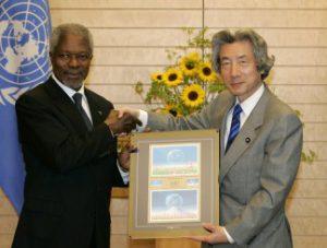 5月17日は何の日【小泉純一郎首相】国連・アナン事務総長と会談