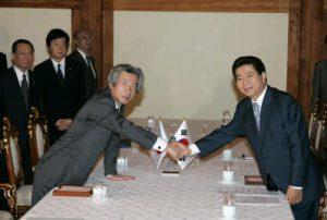 6月20日は何の日【小泉純一郎首相】韓国・盧武鉉大統領と会談