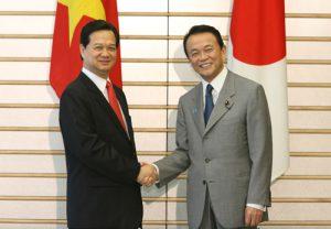 5月22日は何の日【麻生太郎首相】ベトナム・ズン首相と会談