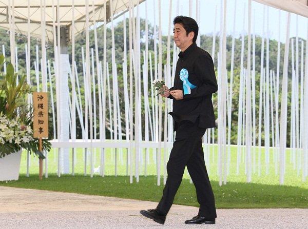 6月23日のできごと(何の日)【安倍晋三首相】沖縄全戦没者追悼式に出席