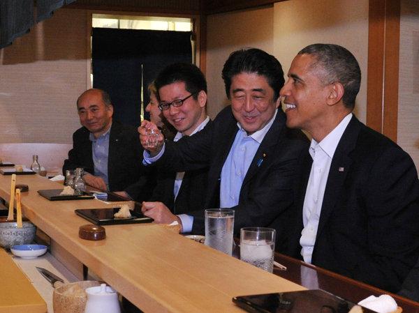 4月23日のできごと(何の日)【米・オバマ大統領】安倍首相と銀座で寿司に舌鼓