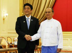 5月26日は何の日【安倍晋三首相】ミャンマー大統領と会談