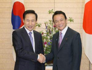 6月28日は何の日【麻生太郎首相】韓国・李明博大統領と会談