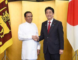 5月28日は何の日【安倍晋三首相】スリランカ大統領と会談