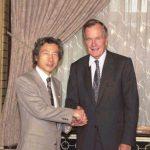5月29日のできごと【小泉純一郎首相】ブッシュ元米大統領(父)が表敬訪問