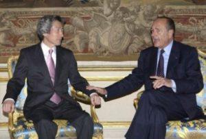4月29日は何の日【小泉純一郎首相】仏・シラク大統領と会談