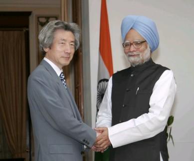 4月29日のできごと(何の日)【小泉純一郎首相】インド・シン首相と会談