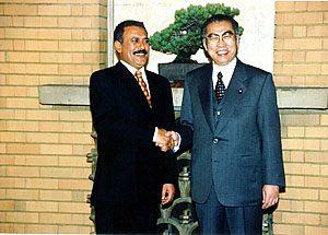 3月15日は何の日【小渕恵三首相】イエメン大統領と会談