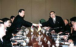 3月20日は何の日【小渕恵三首相】韓国・金大中大統領と会談