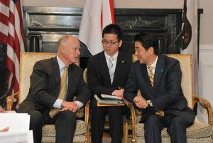 4月30日は何の日【安倍晋三首相】カリフォルニア州知事と会談