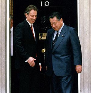 5月3日のできごと(何の日)【森喜朗首相】英・ブレア首相と会談