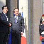 5月5日のできごと【安倍晋三首相】仏・オランド大統領と会談