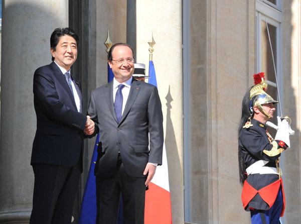 5月5日のできごと(何の日)【安倍晋三首相】仏・オランド大統領と会談