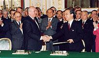 4月18日のできごと【海部俊樹首相】ソ連・ゴルバチョフ大統領と会談