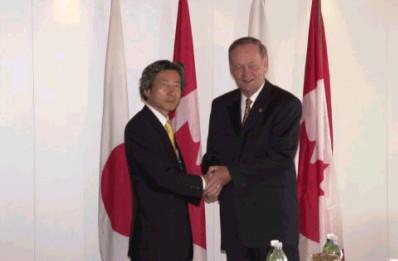 7月20日のできごと【小泉純一郎首相】カナダ・クレティエン首相と会談