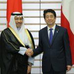 5月12日のできごと【安倍晋三首相】クウェート・ジャビル首相と会談