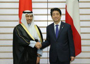 5月12日は何の日【安倍晋三首相】クウェート・ジャビル首相と会談