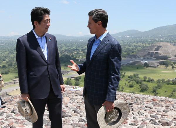 7月26日のできごと(何の日)【安倍晋三首相】メキシコ・テオティワカン遺跡を視察