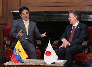 7月29日は何の日【安倍晋三首相】コロンビア・サントス大統領と会談