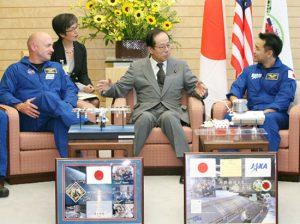 7月29日は何の日【星出彰彦宇宙飛行士】福田首相を表敬訪問