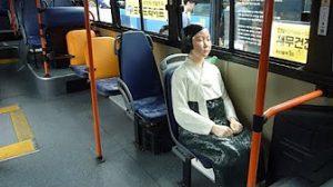 8月14日は何の日【韓国・ソウル】バスの座席に少女像